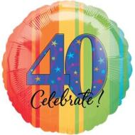 Foil Balloon - Celebrate 40 Aged to Perfection - 18""
