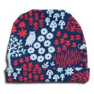 Baby Hat - Woodland Blue & Red