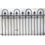 White Seven Finial Fence