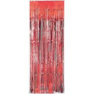 Metallic Curtain- Red-8' x 3'