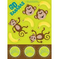 Stickers-Monkeyin Around-4 Sheets