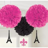 Fluffy Decorations - 3 Pcs (16 inches in diameter)