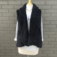 Alicia Black Faux Fur Vest