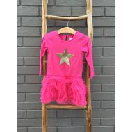 Vivi Pink Dress w Star - Girl