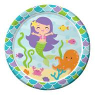 Plates BEV-Mermaid Friends-8pk-Paper - Discontinued