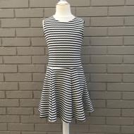 Black White Fit Flare Sailor Dress