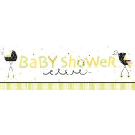 Party Banner-Plastic-Stroller Fun Baby Shower-1pkg