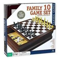 10 Game Set in wood cabinet