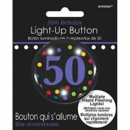 Button-Flashing-50th Bday-Plastic -2''