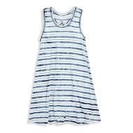 Indigo Tie Dye Nautical Stripe Dress