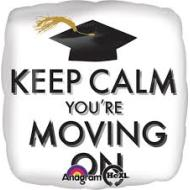Foil Balloon-Keep Calm You're Moving On 17""
