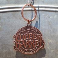 Diecut Copper Keychain - CBD Stacked