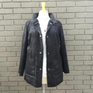 Vintage Black Leather Reversible Coat
