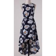 Navy Floral High Low Dress