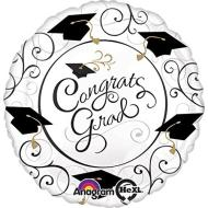 Foil Balloon - Congrats Grad Touch of Class - 18""