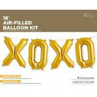 Air Filled XOXO Balloon Kit Gold