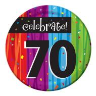 Plates-BEV-Milestone Celebrations 70th-8pkg-Paper - Discontinued