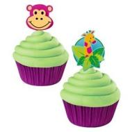 Cupcake Toppers-Jungle Pals-12pkg-3""