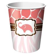 Paper Cups-Wild Safari Pink-8pkg-9oz - Discontinued