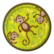 Plates-BEV-Monkeyin Around-8pkg-Paper