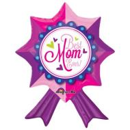 "Foil Balloon - Best Mom Ever Ribbon - 20""x24"""