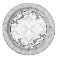 "Beverage Paper Plates- Victorian Wedding- 8pk/6.75"" (Discontinued)"