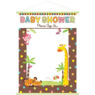 Sign-in Sheet-Baby Shower Animals-19'' x 24''