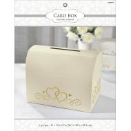 Card Holder Box-Gold-w/Gold Hearts-12'' x 15'' x 10''