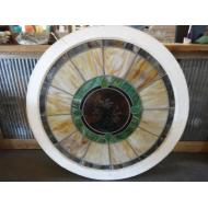 Large Round Stained Glass Panel