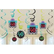 Danglers-40th Bday-Foil-12pk