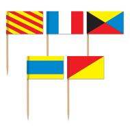 Flag Picks-Nautical Flags-50pkg-2.5""