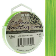 Knotting Cord Neon Green 1.5mm