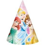 Hat-Cone-Disney Princess-8pk-Paper