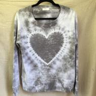Pale Grey Heart Top