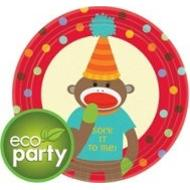 Plates-BEV-Monkey Party-8pkg