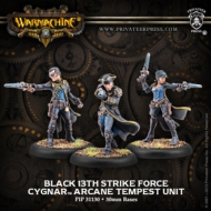 Warmachine: Cygnar - Black 13th Gun Mage Strike Team (resculpt)