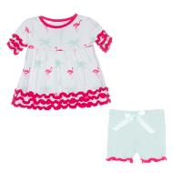 Natural Flamingo Babydoll Outfit Set