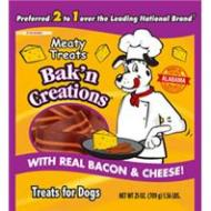 BACON & CHEESE Meaty Treats Bak N Creation Dog Treats 25oz