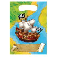 Loot Bags-Pirate Map-8pkg