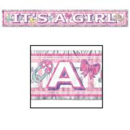 Fringe Banner-Metallic-It's a Girl-1pkg-5ft