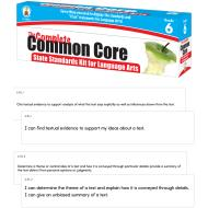 # COMPLETE COMMON CORE GR 6 LANGUAGE