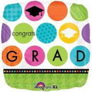 Foil Balloon - Colorful Congrats Grad - 18""
