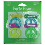 Party Favors-Peace Necklaces-4pkg