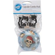 Cupcake Wraps & Picks-Pirate Party-24pkg