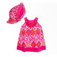 Manu Dress 2 piece Set Maliku Ikat Pink