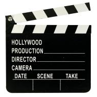 Directors Clapboard -Hollywood-Wood-7'' x 8''