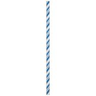 Paper Straws-Striped Blue-24pkg-7.75""