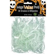 Fvaors- Snakes and Milipede-w/Glow-36pk