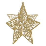 Centerpiece-Gold Glittered Star-12''