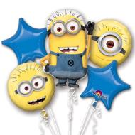 Foil Balloon - Bouquet -  Despicable Me - 5pc
